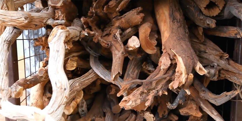 raw sandalwood logs