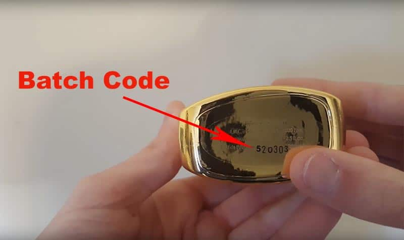 location of Parfums de Marly batch code on the base of the bottle