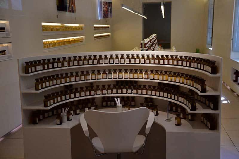 perfume oils in bottles